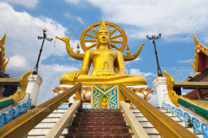 big buddha statue on koh samui, thailand