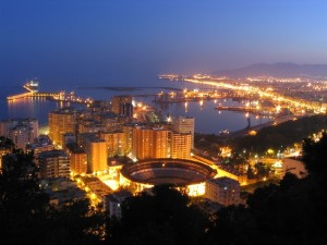 malaga view from gibralfaro